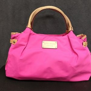 KATE SPADE Stevie Sporty Nylon Pink Handbag NEW